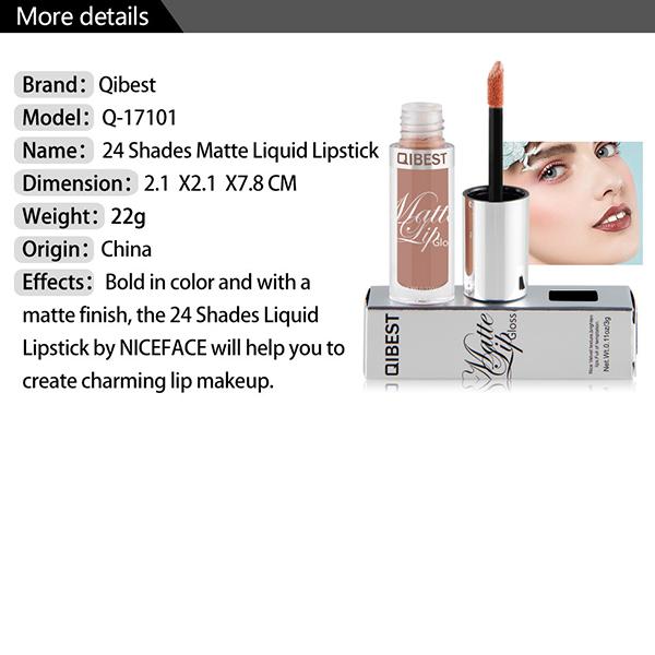 24 Colors Lip Gloss Matte Velvet Color