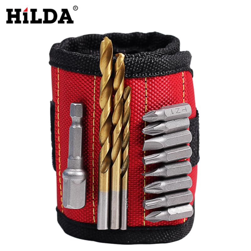HILDA Magnetic Wristband Tool Wrist Band for Holding Tools Wrist Bands Tool Holder