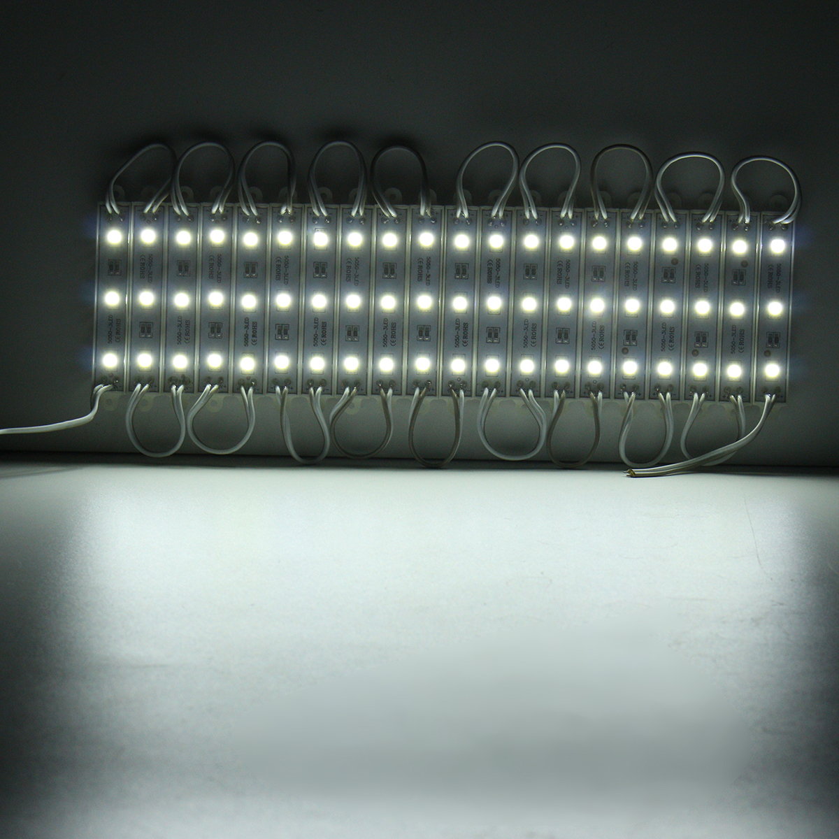 60PCS 5 Colors SMD5050 LED Module Store Strip Light Front Window Lamp + Power Supply + Remote DC12V