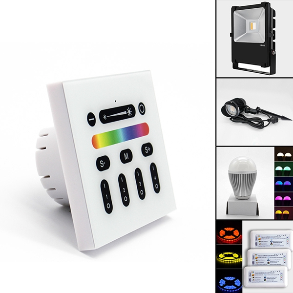 Wireless 2.4G RGBW LED Touch Dimmer Switch Panel Controller for Home Lamp Lighting