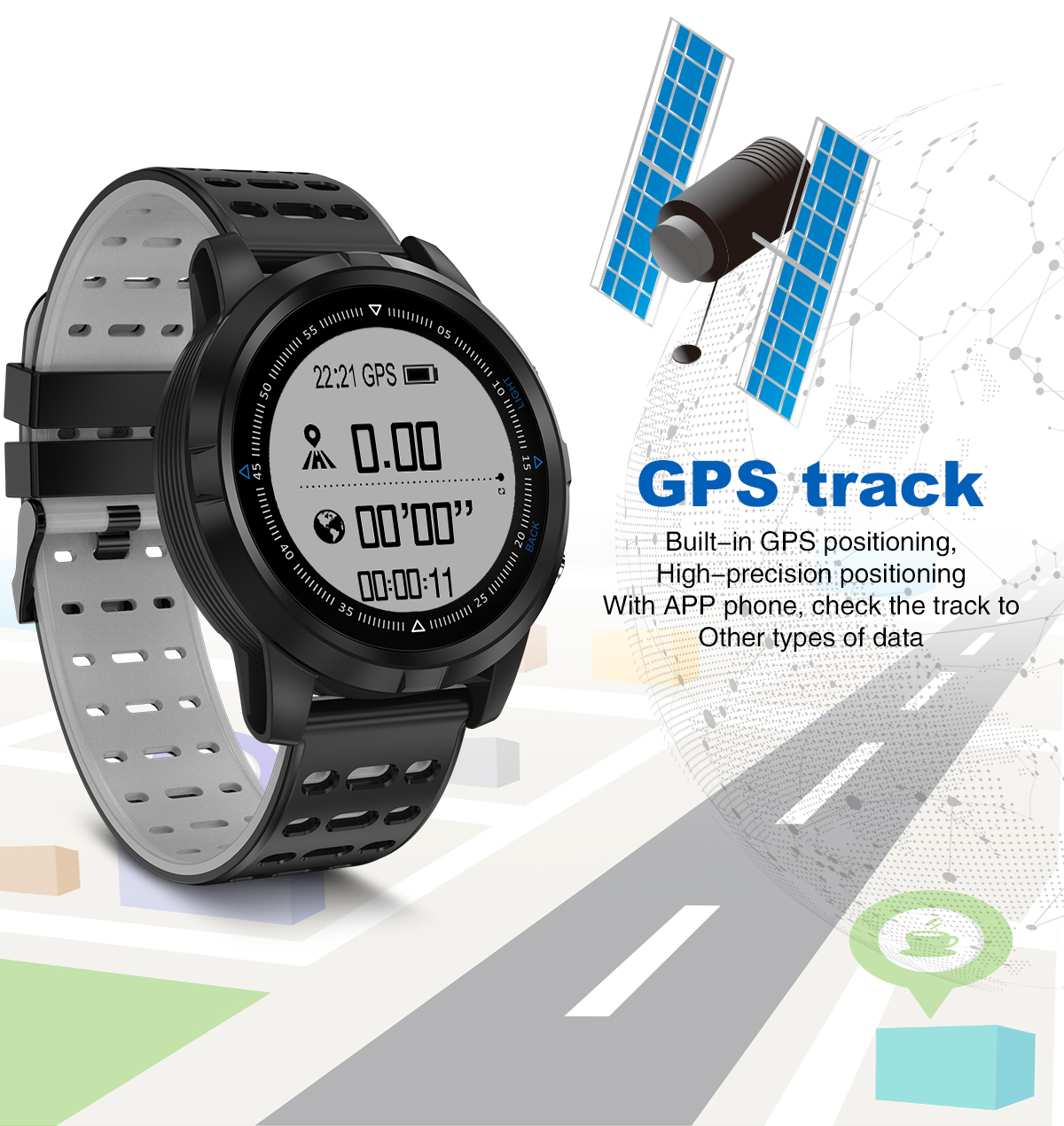 Bakeey N105 1.05inch Reflective Touch Screen IP68 GPS Heart Rate Monitor Sport Mode Smart Watch