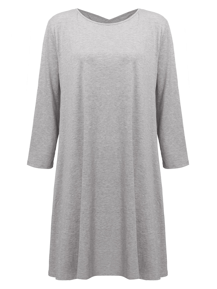 Casual Loose Women Brief Backless Party Tunic Cotton Dress