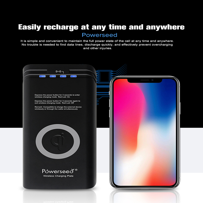 Qi Powerseed Wireless Charging 7000mah Power Bank Battery Charger For IPhone 8 X Plus