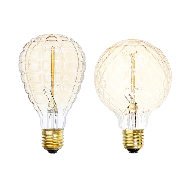 E27 40W Warm White Pineapple Fire Balloon Retro Vintage Edison Global Incandescent Light Bulb AC220V
