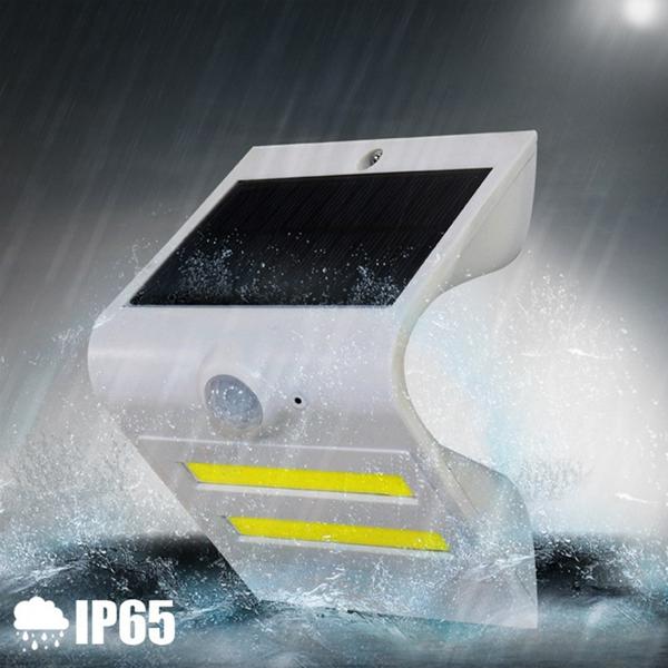 Solar Power PIR Motion Sensor COB LED Light Outdoor Garden IP65 Security Wall Light