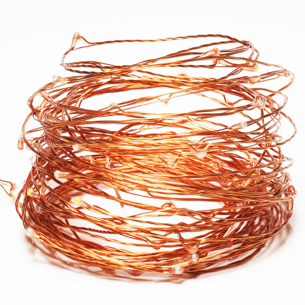 USB Powered 10M 100LEDs Colorful Copper Wire Fairy String Light for Christmas DC5V