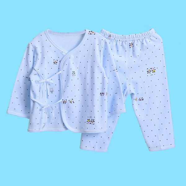 Lovely Kids Two Pieces Dot Pattern Long Sleeve Top Trousers Suit