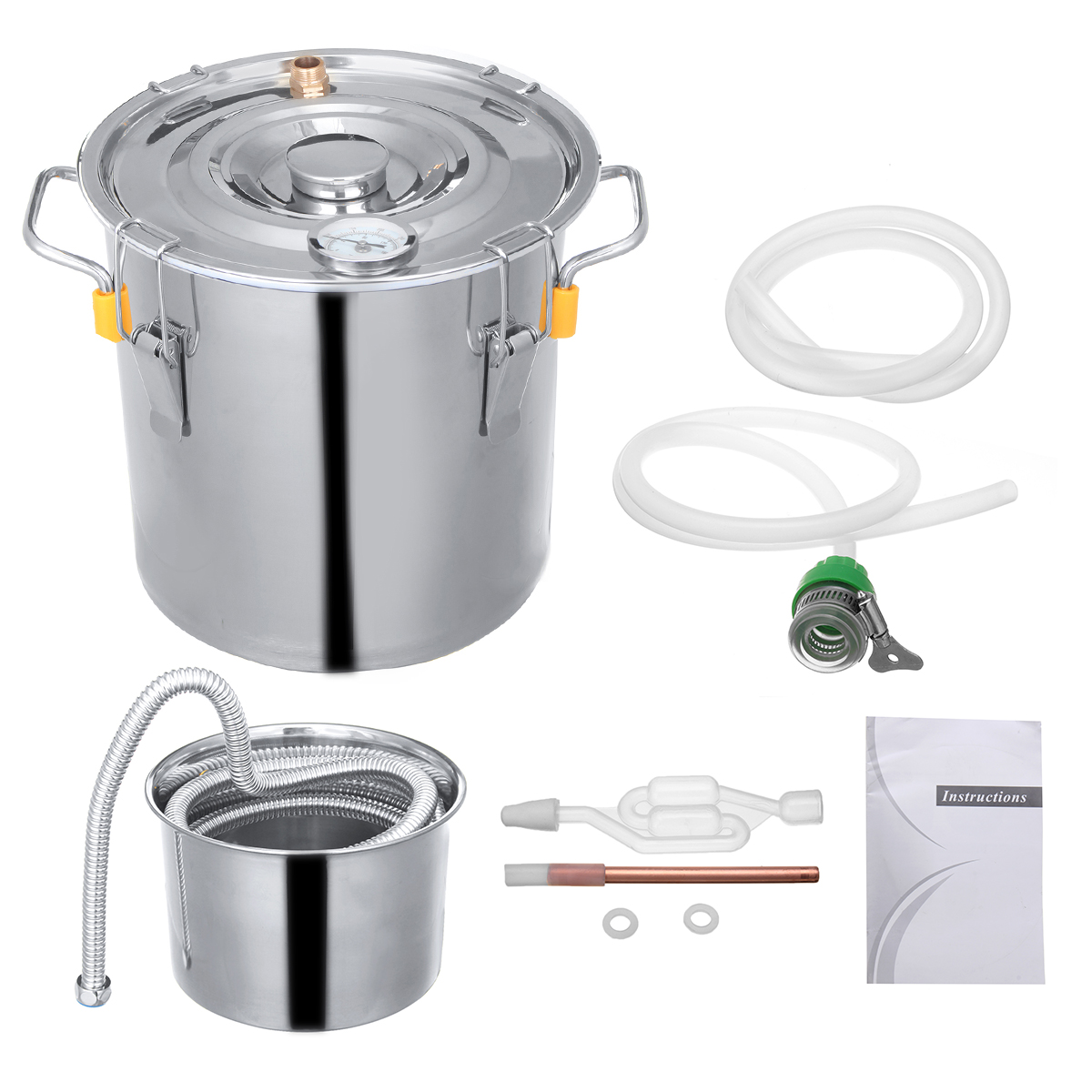 10L/18L/30L Stainless Wine Beer Alcohol Distiller Moonshine Home DIY Brewing Kit