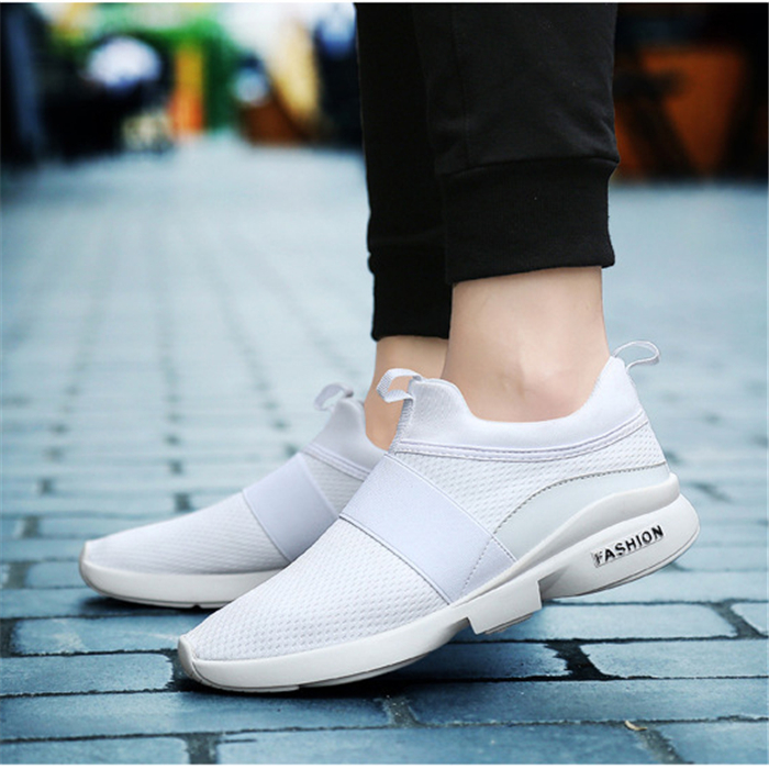 RT-622 Outdoor Men Breathable Slip On Mesh Casual Sneakers Athletic Running Sports Shoes