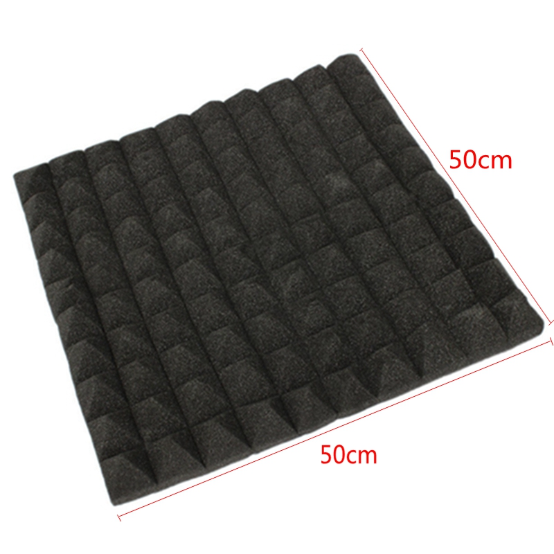 50x50x5cm Acoustic Soundproof Sponge Absorption Pyramid Sound Stop Studio Foam Board