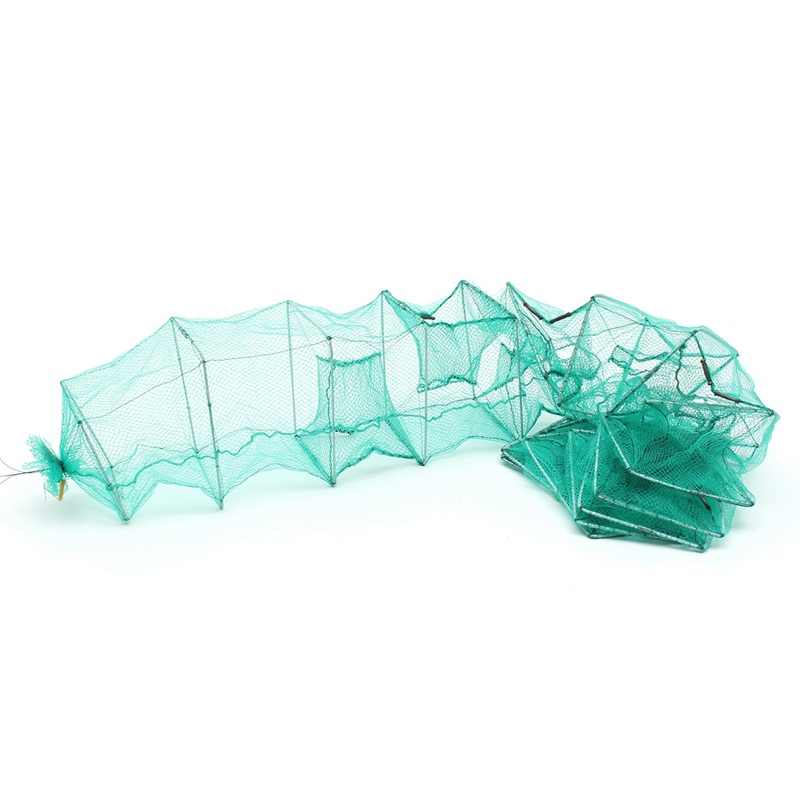 3.6M 5M Long Tube Nylon Mesh Crab Crayfish Lobster Catcher Live Trap Fishing Net Eel Prawn Shrimp