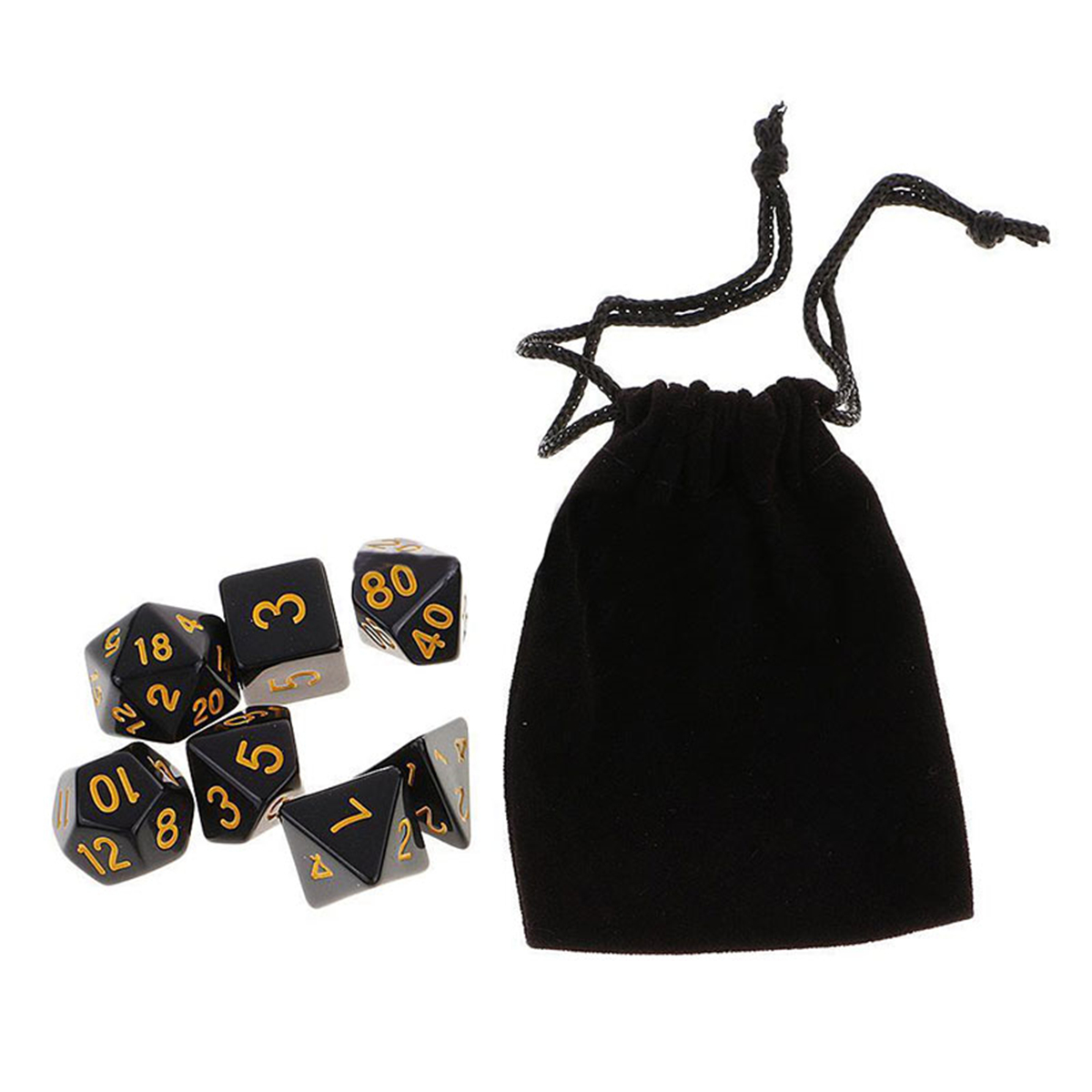 35 Piece Polyhedral Dice Set Multisided Dice With Dice Bag RPG Role Playing Games Gadget