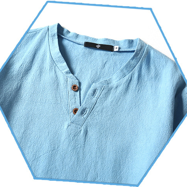 Mens Fashion V-neck Short Sleeved T-shirts