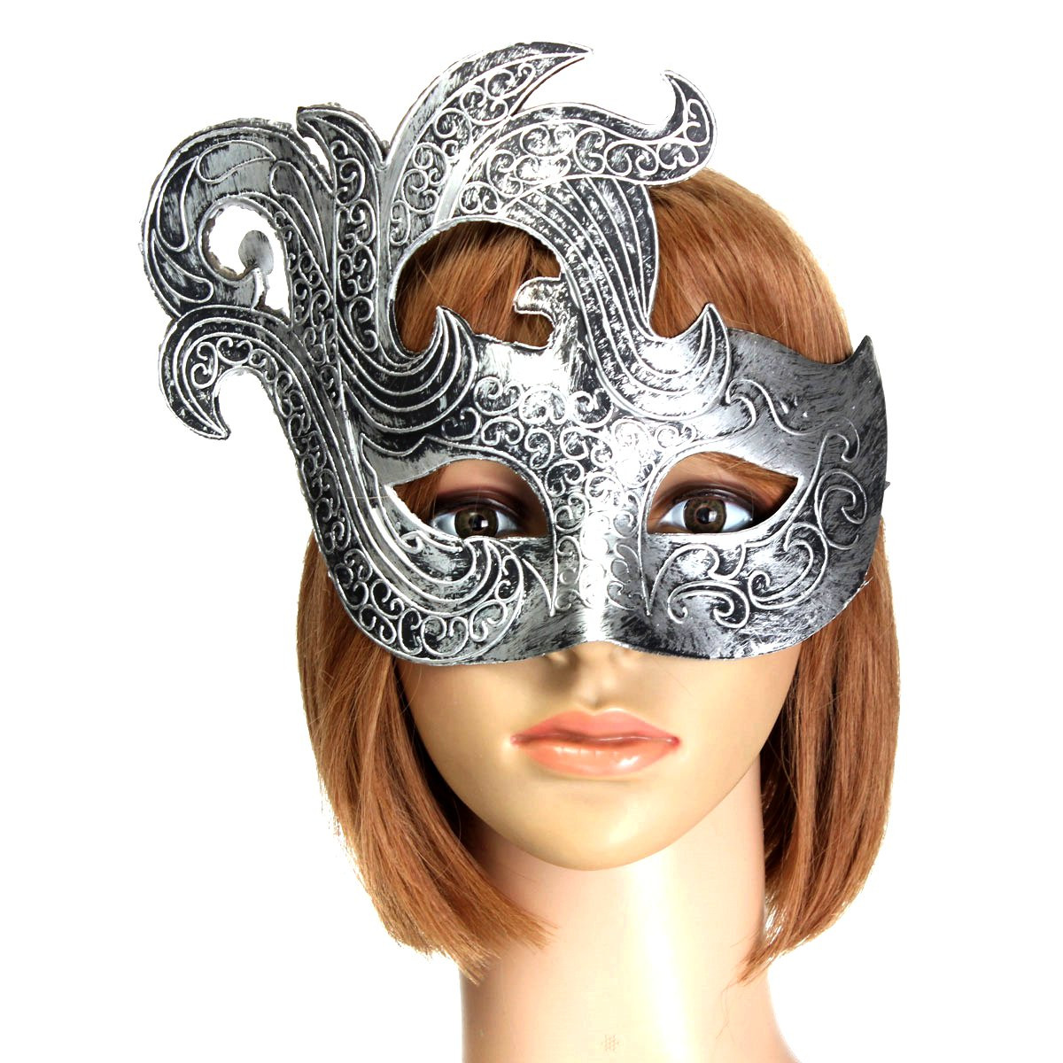 Vintage Half Face Phoenix Mask Roman Greek Mam Lady Mask Costume Masquerade Ball Party Decor