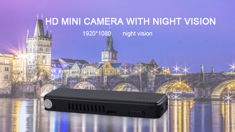 1920*1080P HD Infrared Night Vision Mini Camera Support 4-32G TF Card