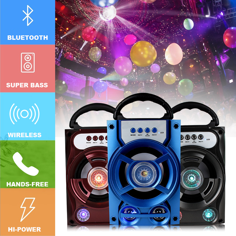 Portable Wireless Bluetooth Speaker Colorful Light Dual Unit Stereo Bass Party Outdoors Speaker 23