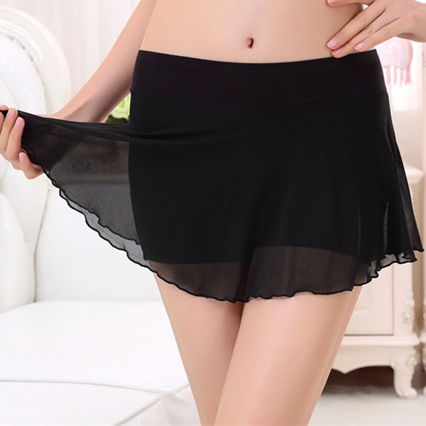 Modal Safety Shorts With Stretched Mesh Skirt Underwear Pant