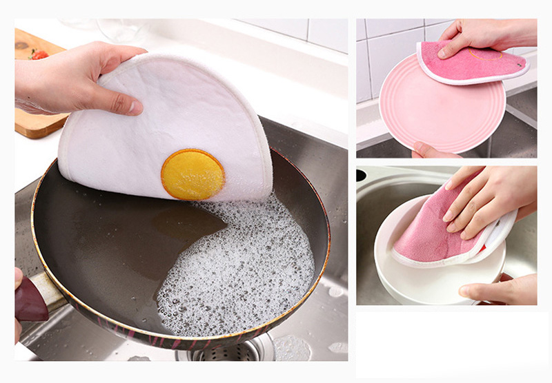KCASA KC-CS11 Hang Thickness Bibulous Dishcloth Heat Resistant Coaster Dry Hand Dish Cleaning Towel