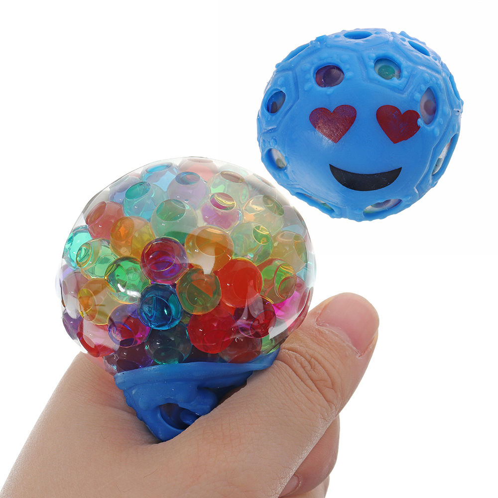Random Colour Stress Relief Toys Mesh Squishy Stressball Squeeze Toys