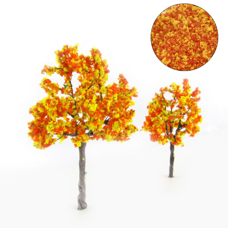 DIY Handmade Building Model Material Grass Tree Sponge Powder Orange Mixture Pollen