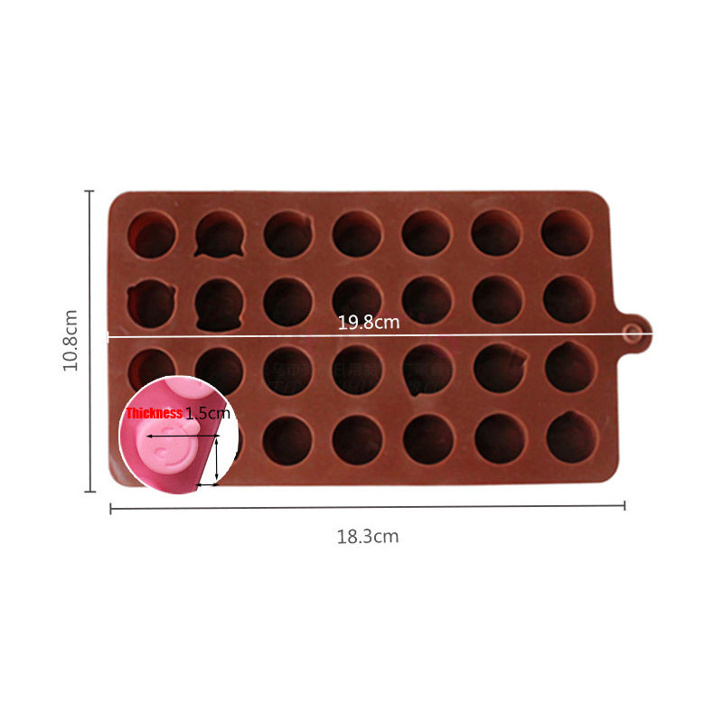 Honana FM-EC28 28-Cavity Emoji Silicone Cake Mold Chocolate Candy Soap Ice Mould Fondant Pastry Mold