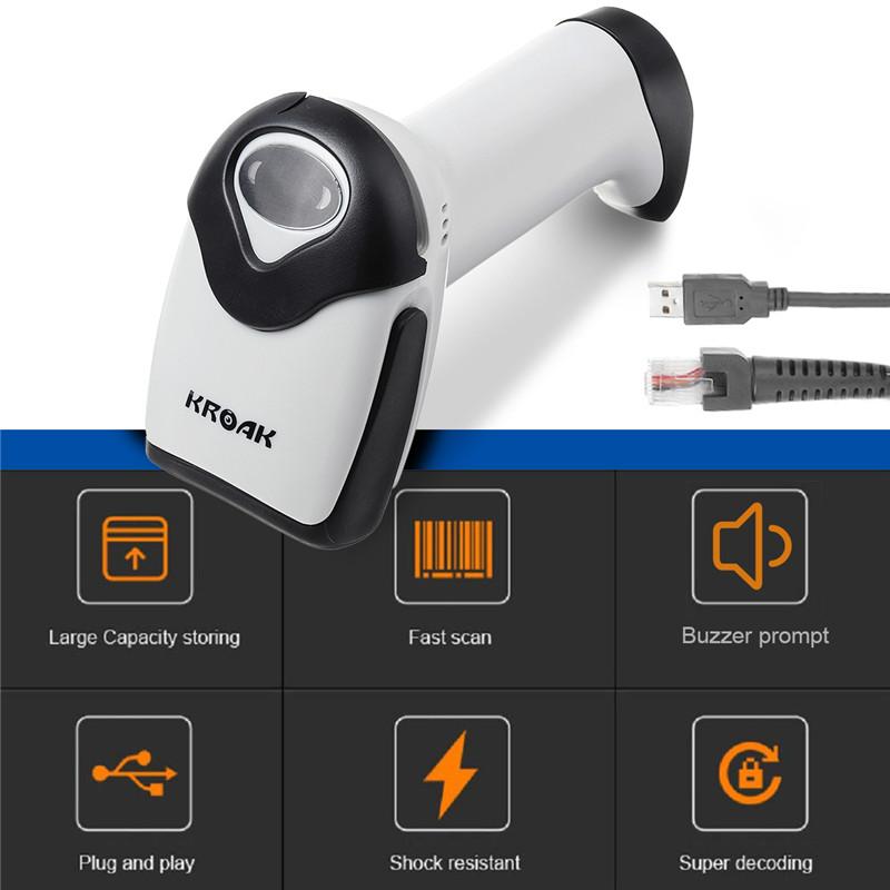 20mW DC5V Barcode Scanner Laser Wired Portable Bar Code Scanner USB Barcode Reader