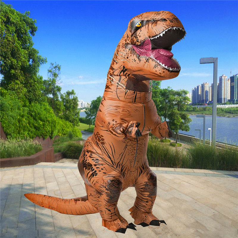 Dinosaur Adult Inflatable Toys Clothing 210 x 98cm Models Air Blowing Up Costume Funny Halloween Toy