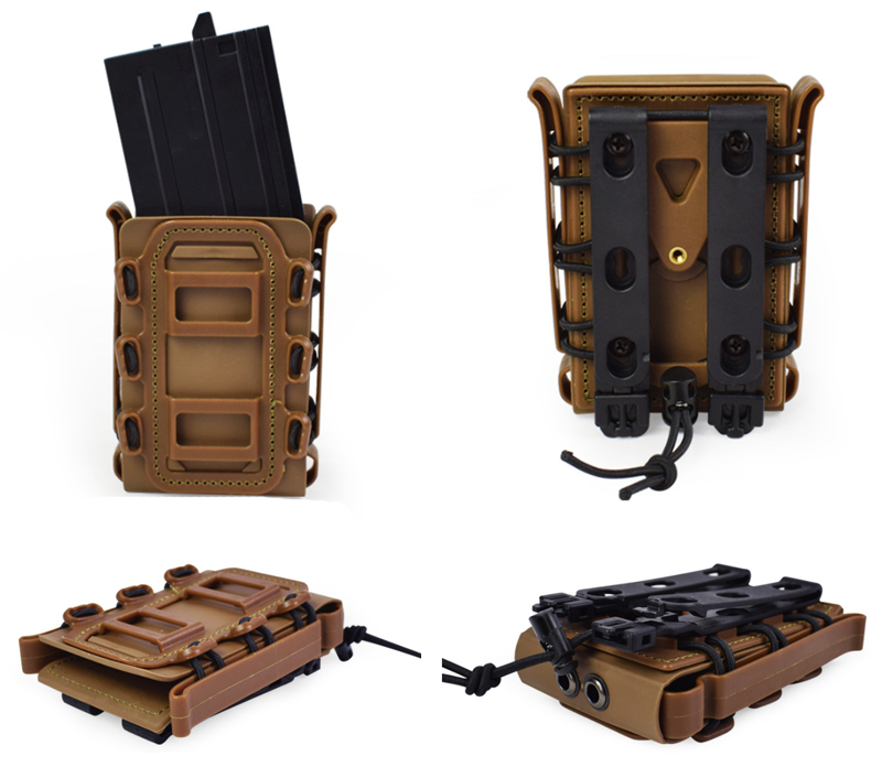 Tactical 5.56/7.62 Molle Holster Fast Mag Attach Belt Case Box Pistal Supplies For Hunting Shooting
