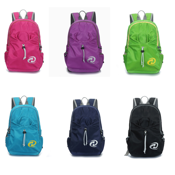 Women Nylon Casual Laptop Backpack Travel Knapsack