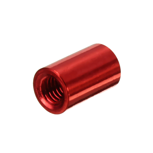 Suleve™ M3AR1 M3 Aluminum Alloy Standoff Studs 8-35mm Red Round PCB Board Spacers Standoffs 10pcs