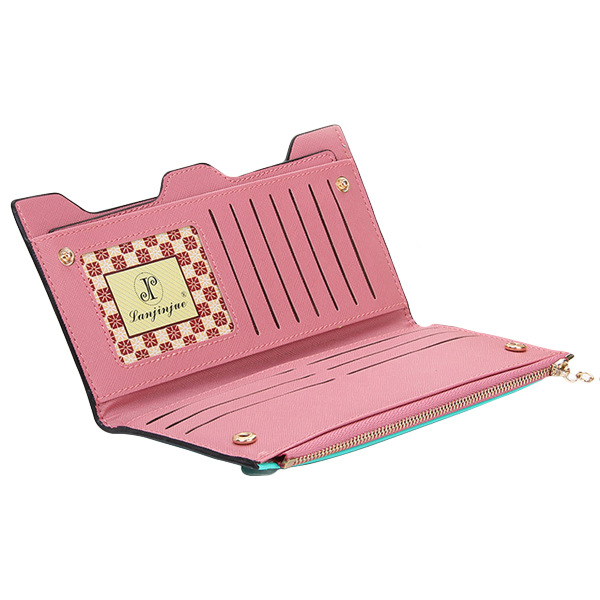 Women Bow-Knot PU Multi Card Holders Wallet Card Bag Elegant Clutches