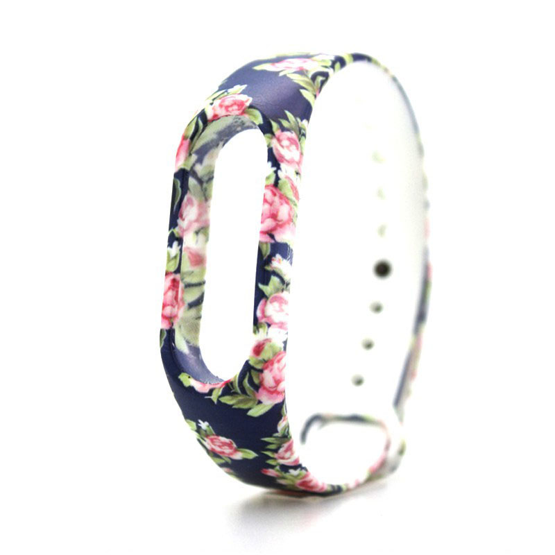 Multi Pattern Individual Replacement TPU Watch Strap for XIAOMI MIband 2