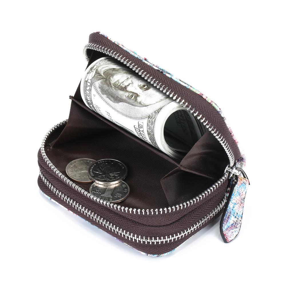 Brenice Women RFID 10 Slots National Cowhide Wallet Purse