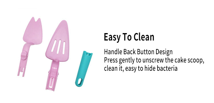 Honana Pushable Cake Scoop Cake Shovel Creative Gadget To Move Cake Scoop Removable And Washable Baking Tools