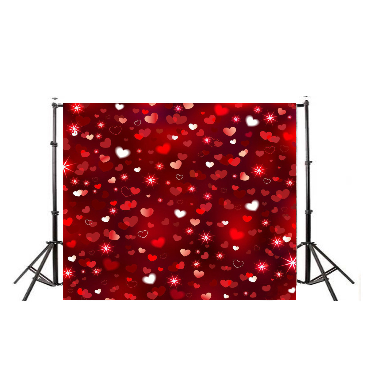 10X10FT Vinyl Glitter Love Heart Photography Studio Backdrop Wedding Photo Props