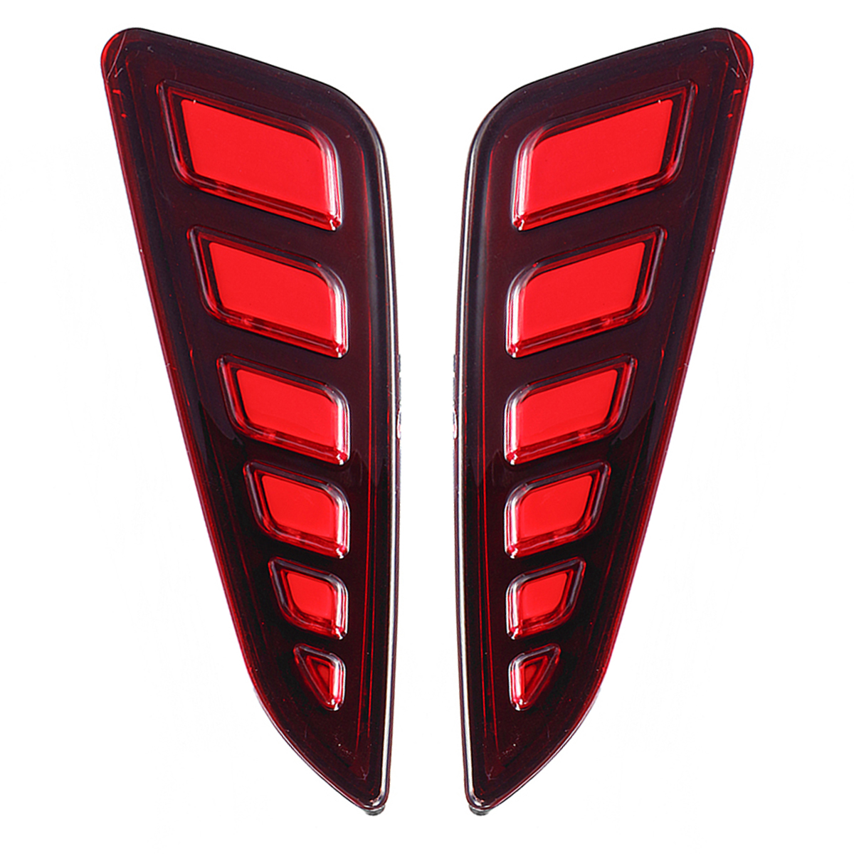 Pair LED Rear Bumper Reflector Driving Brake Lights Daytime Running Lamps for Toyota C-HR 2016-2018