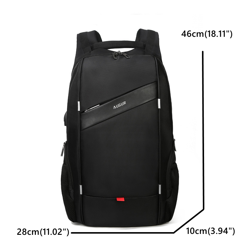 MenPU 15.6 Laptop USB Charging School Backpack