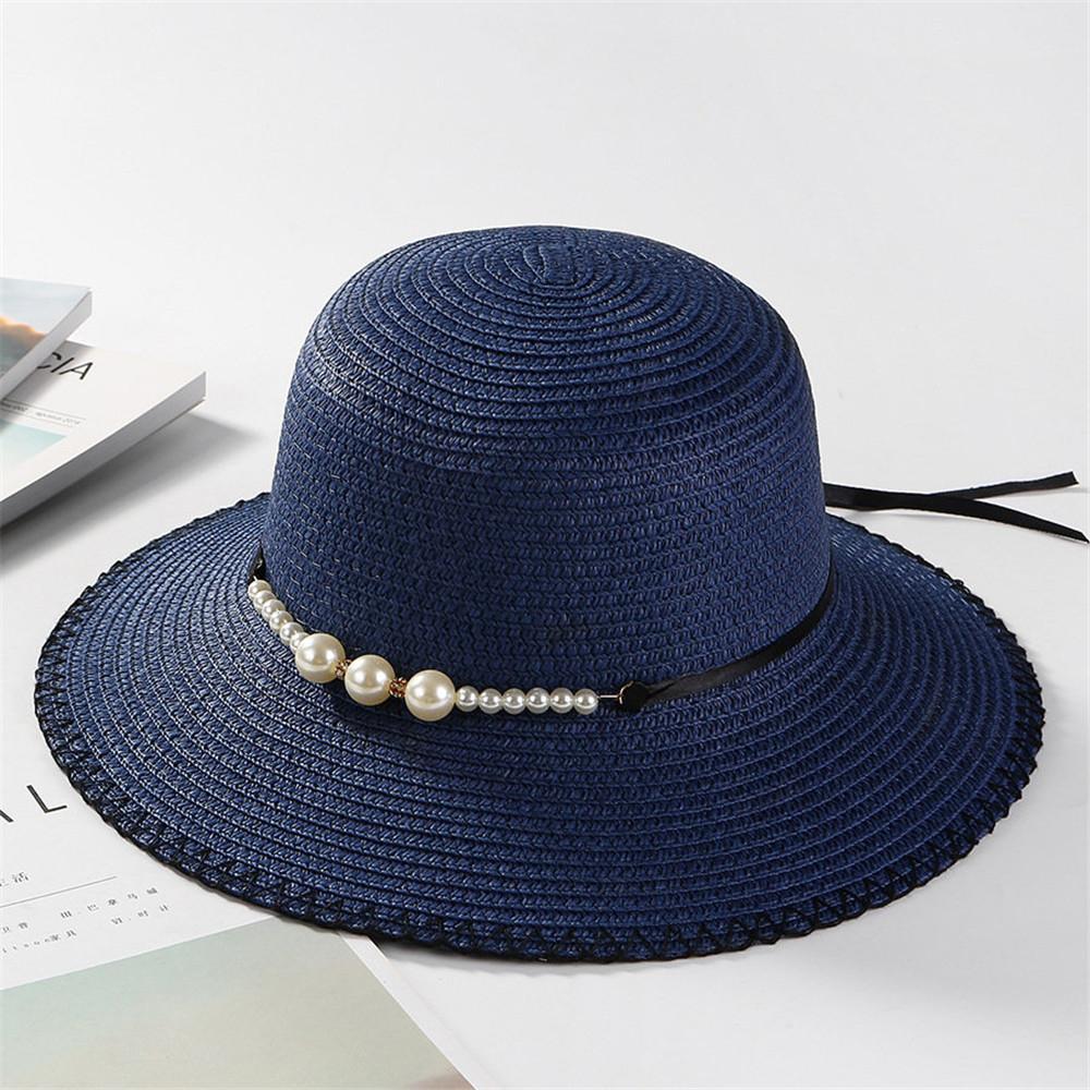 Women Summer Straw Casual Sunscreen Visor Beach Sun Hats