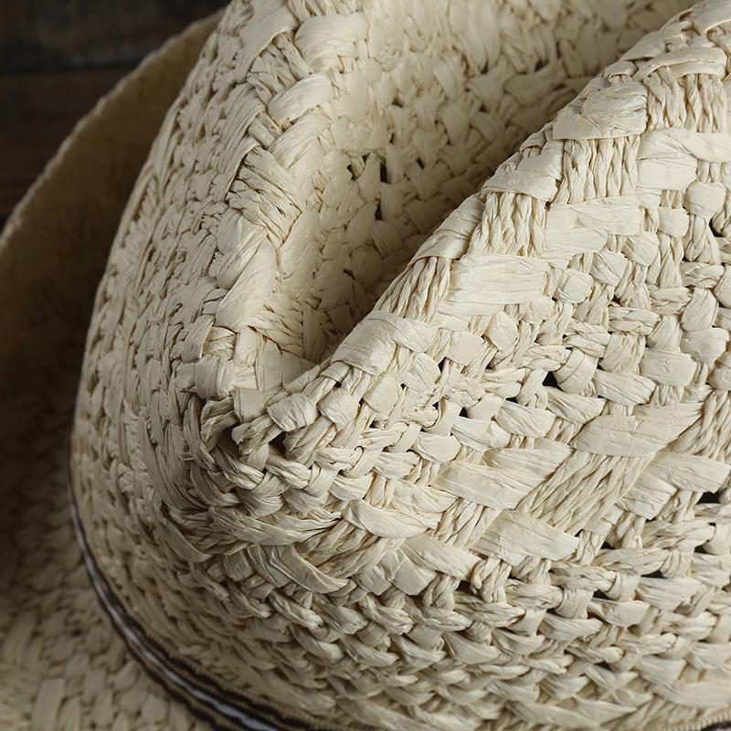 7be59585b78bc mens outdoor handmade woven straw jazz hat at Banggood