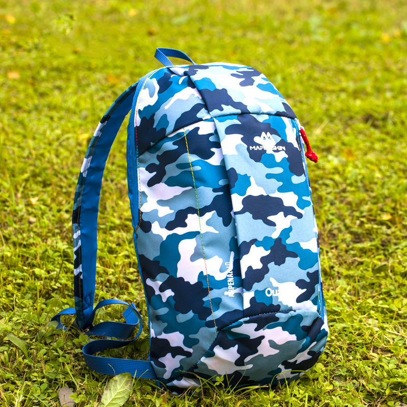 10L 600D Waterproof Fabric Outdoor Bag Backpack Wear Resistant Scratch Proof Ultralight Camping Hiking Travelling Climbing For Men Women