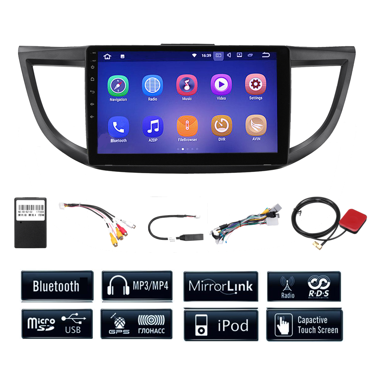 10.2 Inch Android 7.1 Radio Car Stereo GPS Navigation For Honda CRV 2012-2015