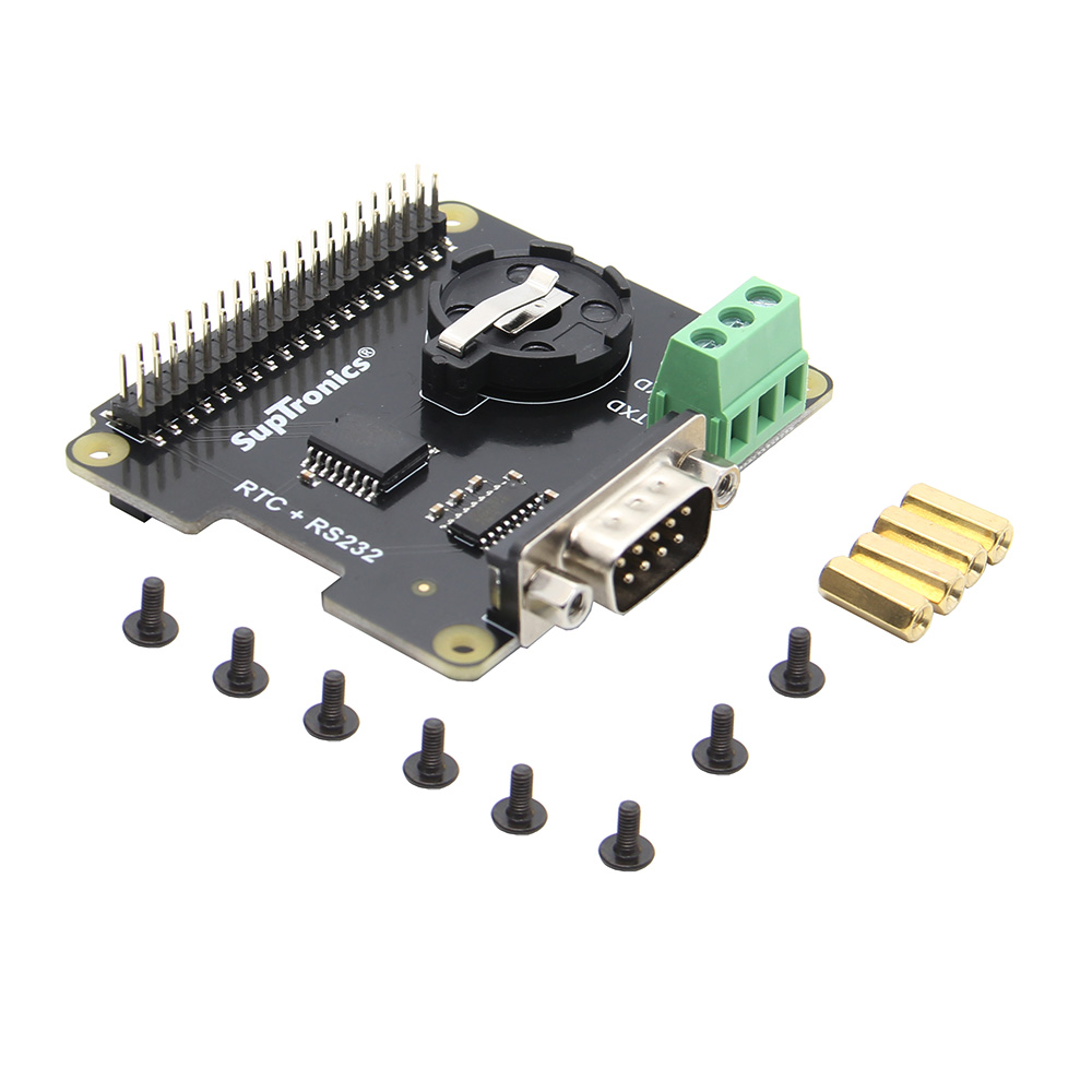 X230 RS232 Seria Port & Real-time Clock (RTC) Expansion Board for Raspberry Pi