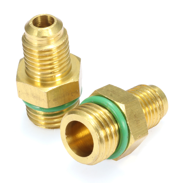 2Pcs R134A High & Low Quick Adapter Coupling for Air Conditioning Refrigerant