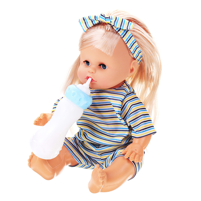 12Inches Lifelike Baby Dolls Smart With Sounds Drinking Water Peeing Sleeping Children Baby Girl Toy