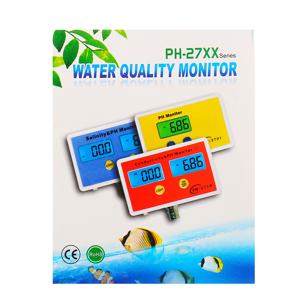 Test Equipment - PH-2791 PH/EC 2-in-1 Detector Water Quality