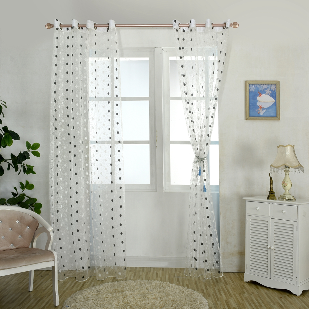 Honana WX-C11 1x2m Fashion Bird Nest Voile Door Curtain Panel Window Room Divider Sheer Curtain Home Decor