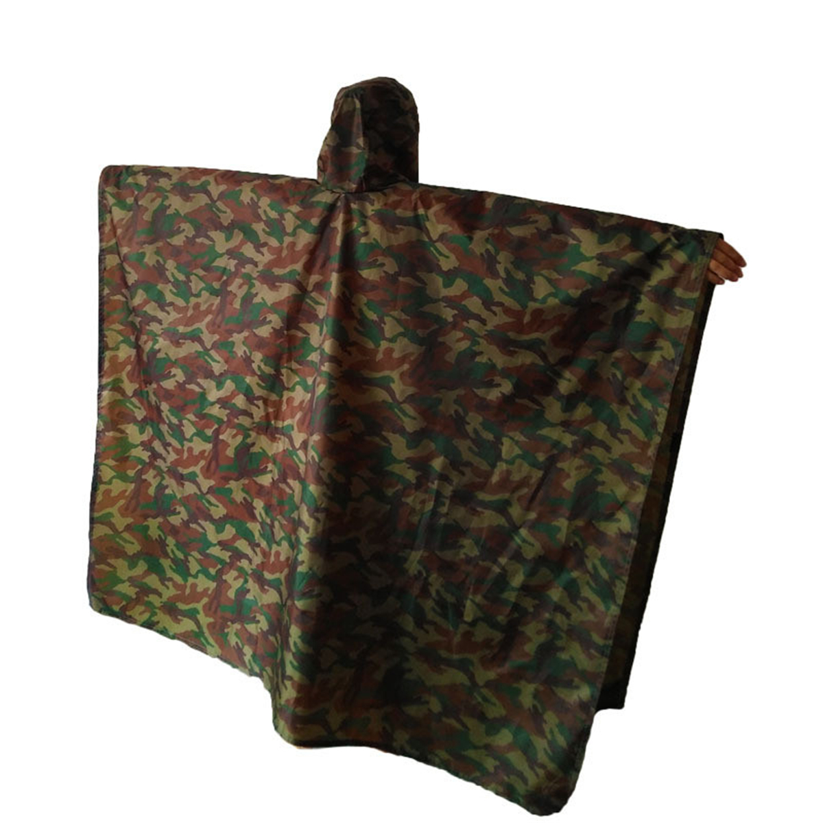 3 In1 Raincoat Waterproof Awning Camping Emergency Camouflage Poncho Rainwear