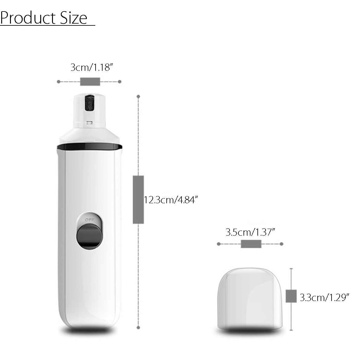 Rechargeable USB Charging Electric Pet Nail Grinder Trimmers Paws Clipper Nail Grooming Tools