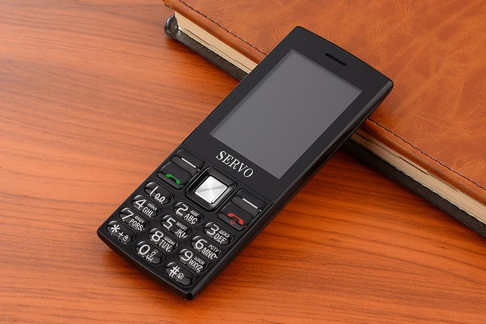SERVO V9300 2.4 Inch 1400mAh Bluetooth Flashlight FM MP3 MP4 GPRS Dual SIM Card Mobile Phone