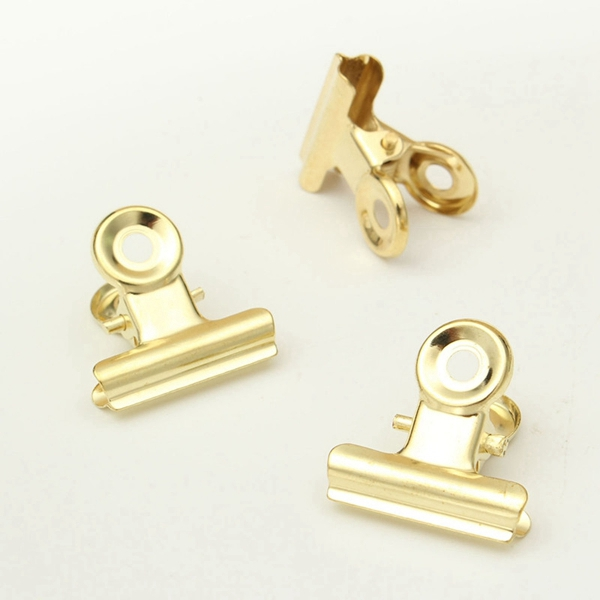 6 Pcs/Set 22mm Stainless Steel Silver Clips Paper Letter File Clamps Home Office School Supplies